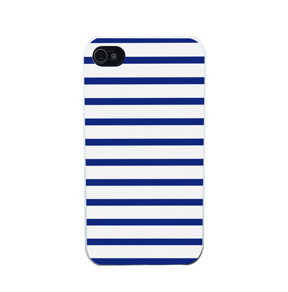 904O Nautical Stripe Syle Phone Case Shell Hard White Case Cover for iPhone 4 5 6 s plus