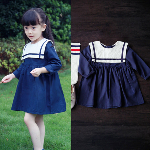 Nautical Inspired Navy and white dress