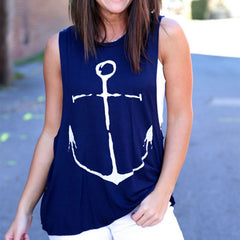 Anchor Print Sleeveless Tank top