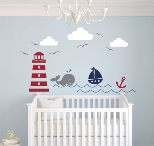 Nautical Theme Pvc Wall Decal Vinyl Sticker Home Decor Art Wall Decoration