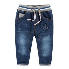 Lovely Anchor Vintage Boys Jeans Hot Sale Kids Jeans Nice Gift Baby Boy Pants Jeans For Children 3 - 8 Years