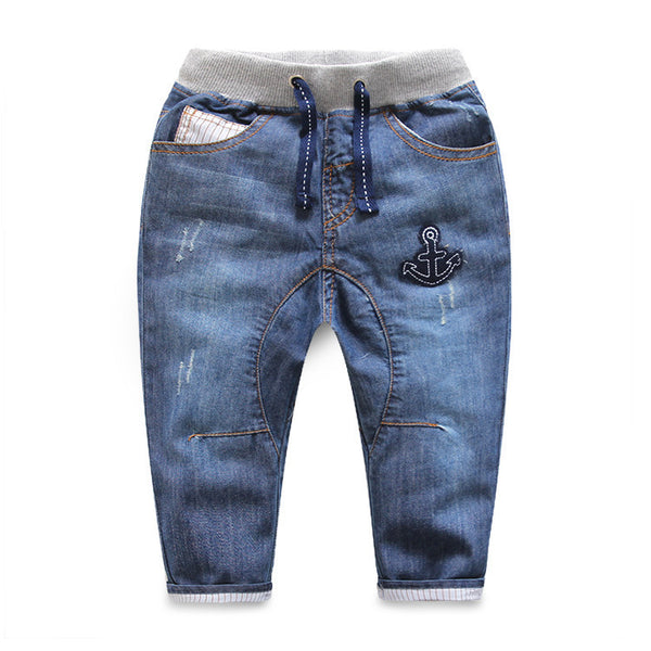 High Quality Baby Boy Spring Autumn Fashion Jeans 2016 New Children Anchors Casual Trousers 2-7 Yrs