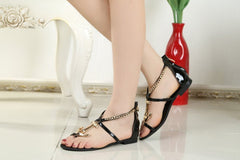 Genuine leather anchor sandals