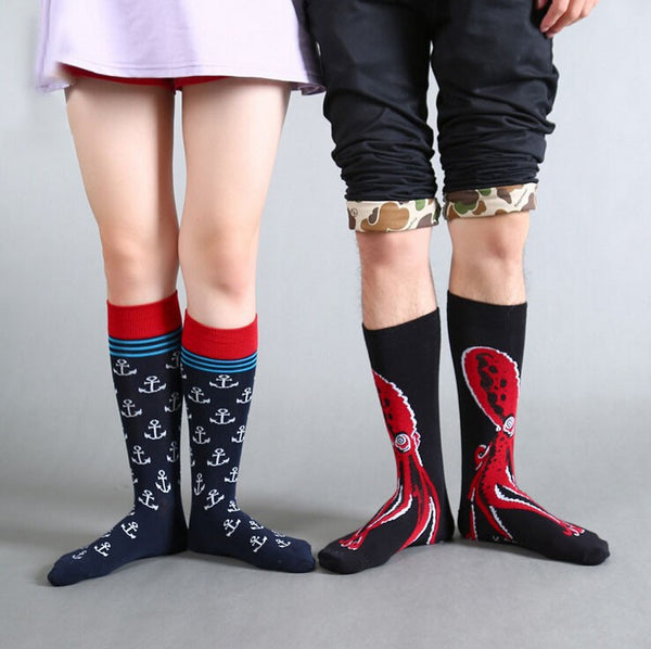 Octopus  Anchor Cotton Knee high socks