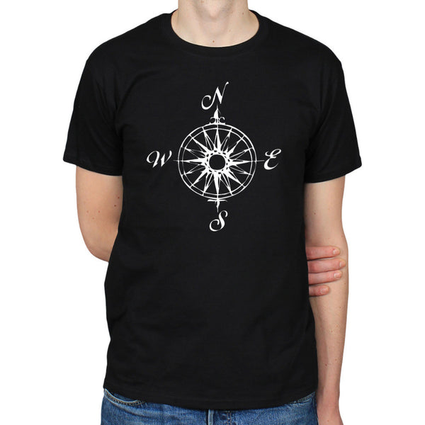 NAUTICAL COMPASS MARITIME SAILING cotton short-sleeve Round collar T-shirt