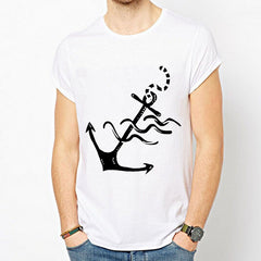 Anchor printed short-sleeve T-shirt white