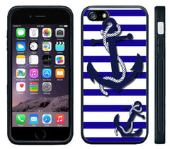 Nautical Stripes Blue White Anchors cell phone case cover for for Iphone 4S 5 5S 5C 6 Plus Samsung galaxy S3 S4 S5 S6Note 2 3 4