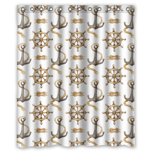 Nice Personalized Funny Nautical Ship Anchor Waterproof Shower Curtain 60'(w)x72'(h)