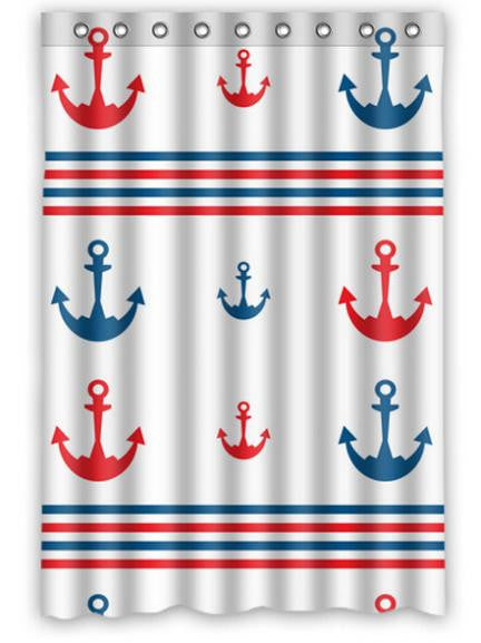 Custom Home Decor Anchor white Fabric Moden Classical Shower Curtain bathroom Waterproof 60