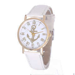 Factory Wholesale 3D Gold Nautical Anchor Watches Women Fashion Tonneau Watch Quartz Casual Warstwatch Relogio Relojes