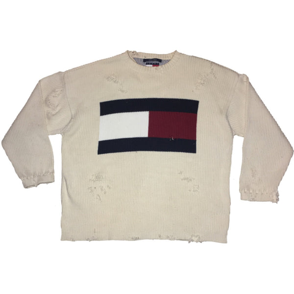 Vintage Custom Distressed Tommy Sweater (M)