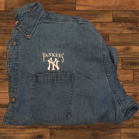 NY Yankees Denim Shirt