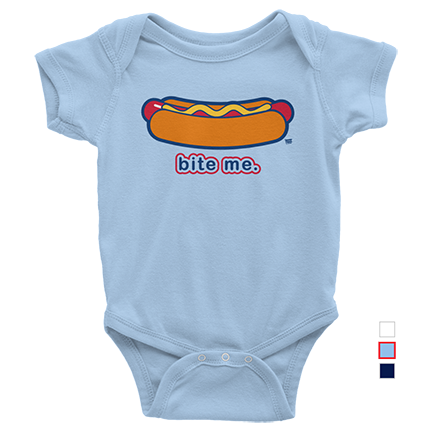 Bite Me - Chicago Dog - Chicago Cubs - Baby
