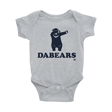 DABEARS - Da Bears - Chicago Bears - Baby Bodysuit