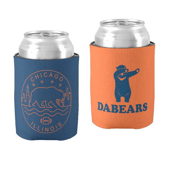 Koozie Pack - Chicago Bears - Da Bears - Chicago Seal