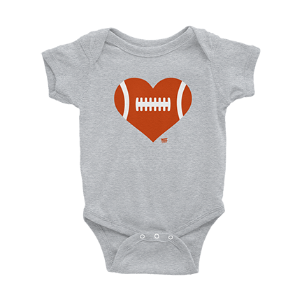 Love Football - Heart - Chicago Bears - Baby Bodysuit