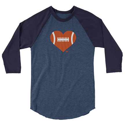 Love Football - Heart - Chicago Bears - 3/4 Sleeve