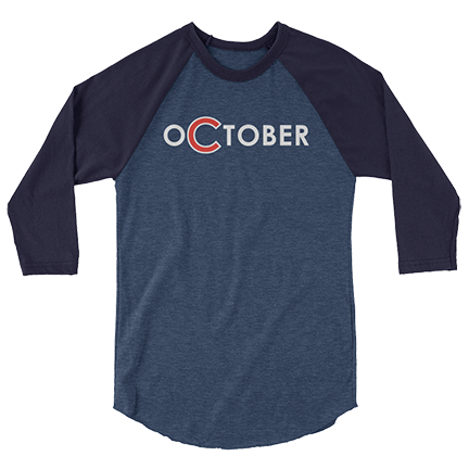 oCtober - Chicago Cubs - Raglan