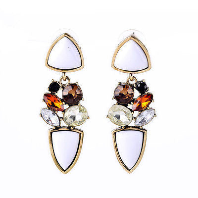 Vintage Classic White Drop Earrings - BellaBijoux