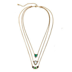 Marquesas Glass 3 in 1 Tiered Necklace - BellaBijoux