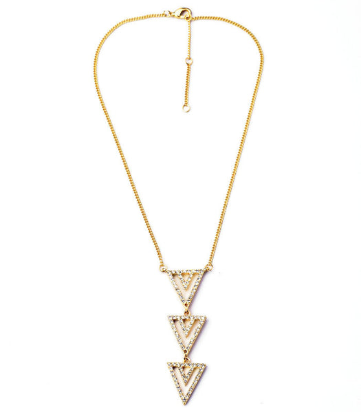 GladiatorPrincess Delicate Triangles Pendant - BellaBijoux
