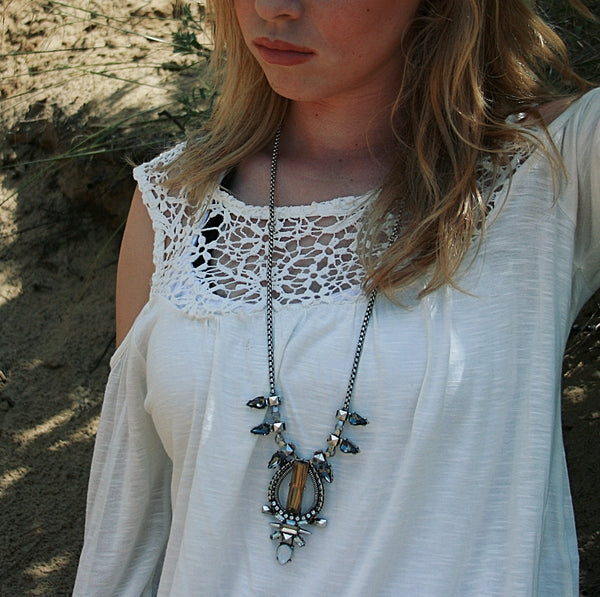 Sun Veil Statement Necklace - BellaBijoux