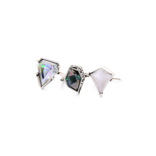 Glacier Luxe Ice 3 pcs Layering Rings - BellaBijoux