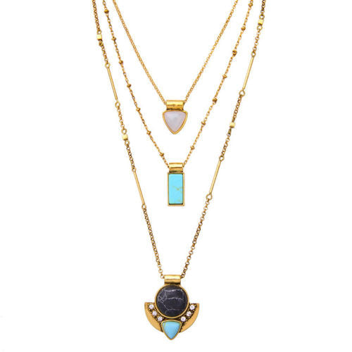 Mandalay 3 in 1 Convertible Layers Pendant Necklace