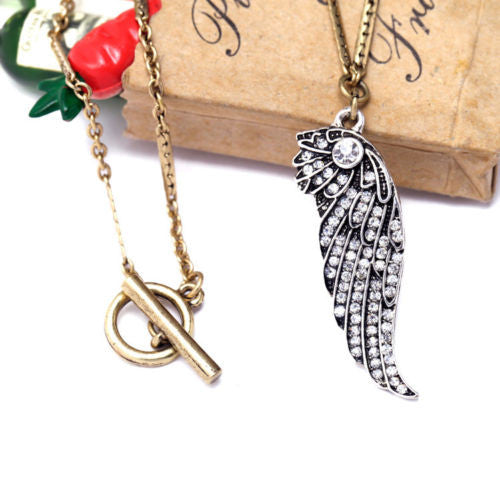 Born to Fly Pendant Necklace - BellaBijoux