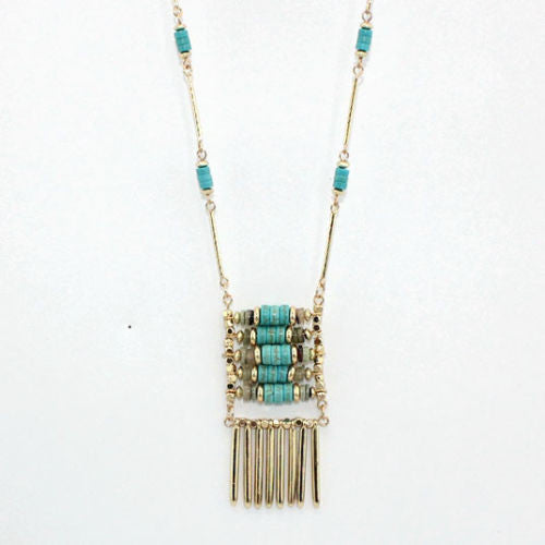Beachy Keen  Long Pendant Necklace - BellaBijoux