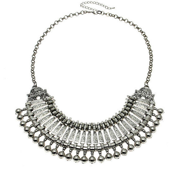 Bohemian VIbes Silver Collar Necklace - BellaBijoux