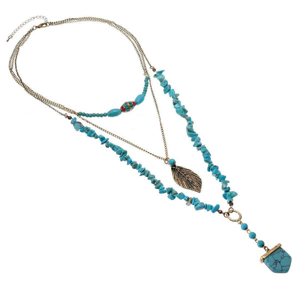 Calypso Layered Turquoise Necklace - BellaBijoux