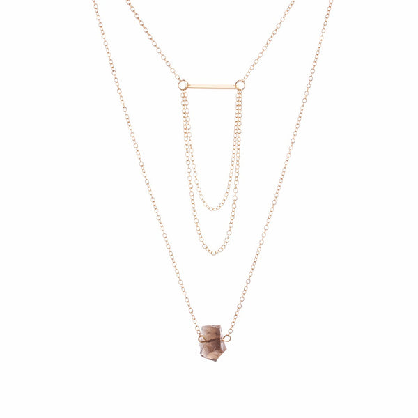 Delicate Layers Rock Necklace - BellaBijoux