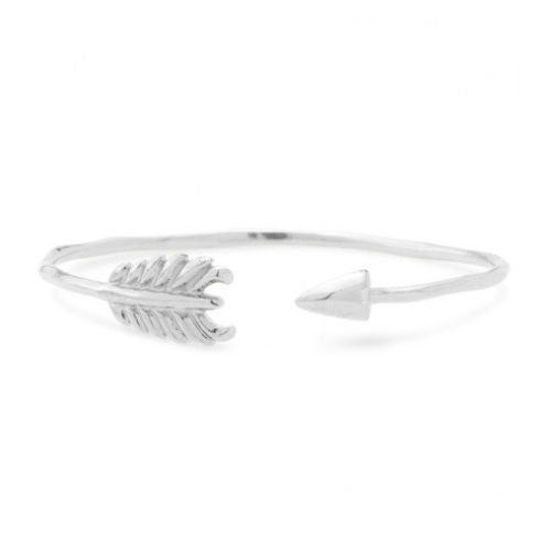 Glilded Arrow Silver Cuff - BellaBijoux
