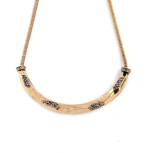 Gold Crescent Moon and Stars Necklace - BellaBijoux