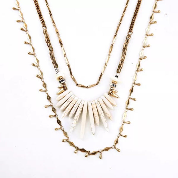 Serengeti Layered Necklace - BellaBijoux