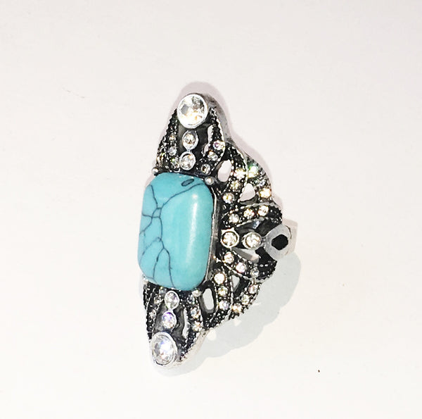 Turquoise Treasure Statement Ring - BellaBijoux