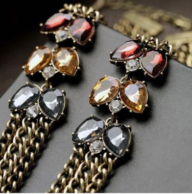 Moulin Rouge Layered Collar Chain Necklace - BellaBijoux
