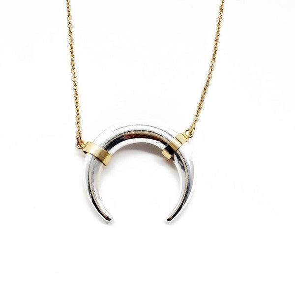 No Bull two-tone pendant necklace - BellaBijoux