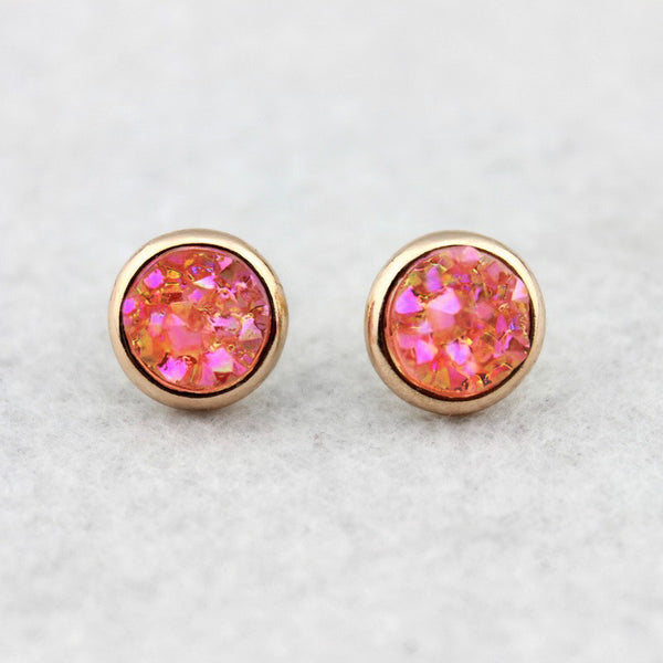Mermaid Druzy Crystal Earrings - Pinking of You