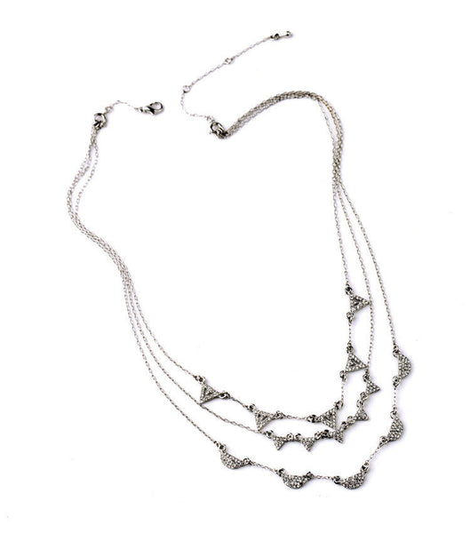 Silver Heights 3 in 1 Layered Necklace - BellaBijoux