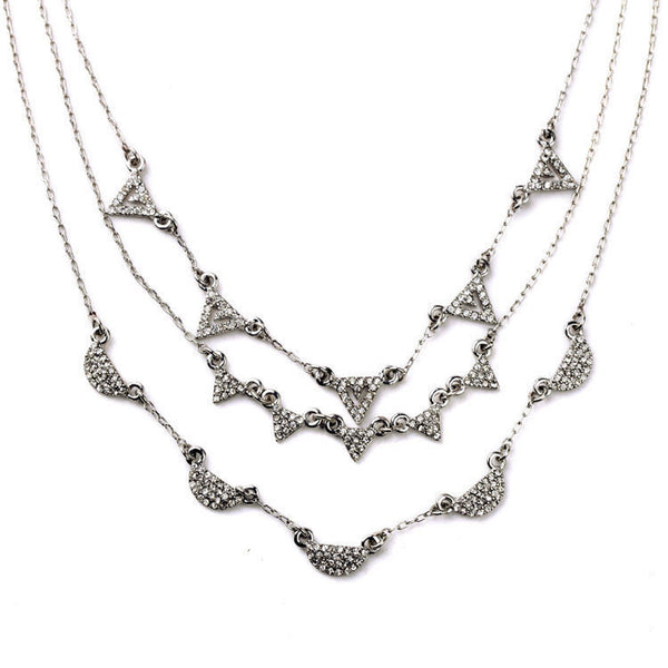 Silver Heights 3 in 1 Layered Necklace