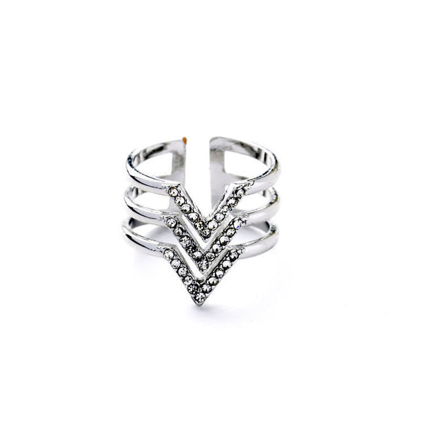 Galactica Layered Spear Ring - BellaBijoux