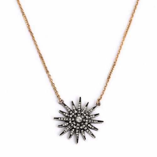 Sunburst Vintage Necklace - BellaBijoux