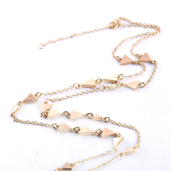 Triangles Long Necklace
