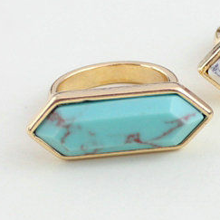 Turquoise Surf Gold Plated Ring - BellaBijoux