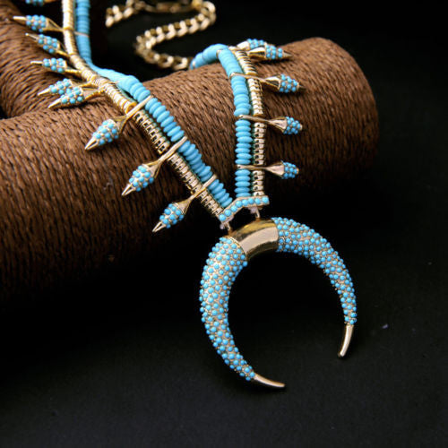 Turquoise Tusk Necklace