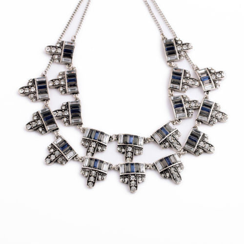 Tuscany Treasure Double Layer Statement Necklace - BellaBijoux