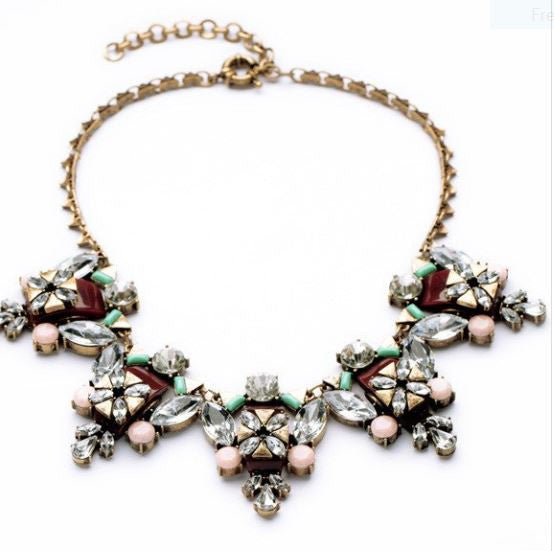 What do you Pink?  Antique  Statement Necklace
