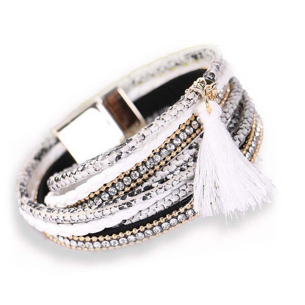 Boho Beach Party Bracelet - white